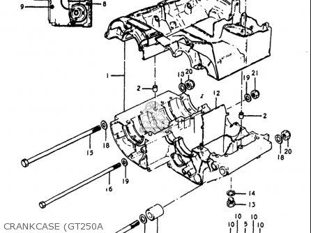Suzuki Gt250 1973-1977 usa Crankcase gt250a