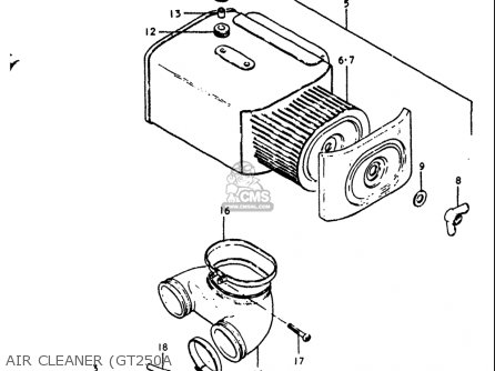 Suzuki Gt250k Gt250l Gt250m Gt250a Gt250b 1973-1977 Usa Air Cleaner gt250a