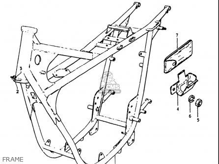 Suzuki Gt250k Gt250l Gt250m Gt250a Gt250b 1973-1977 Usa Frame