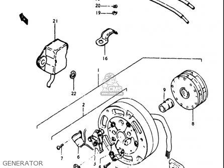 Suzuki Gt250k Gt250l Gt250m Gt250a Gt250b 1973-1977 Usa Generator