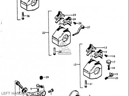 Suzuki Gt250k Gt250l Gt250m Gt250a Gt250b 1973-1977 Usa Left Handle Switch