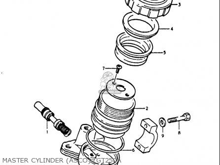 Suzuki Gt250k Gt250l Gt250m Gt250a Gt250b 1973-1977 Usa Master Cylinder asco gt250a