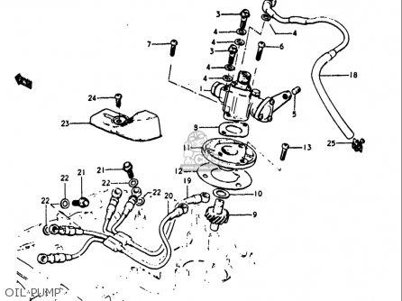 Suzuki Gt250k Gt250l Gt250m Gt250a Gt250b 1973-1977 Usa Oil Pump