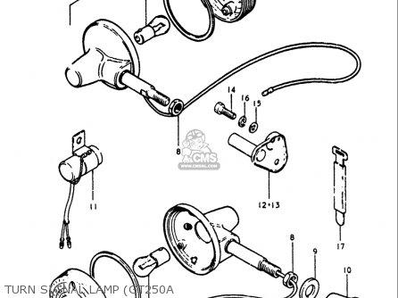 Suzuki Gt250k Gt250l Gt250m Gt250a Gt250b 1973-1977 Usa Turn Signal Lamp gt250a