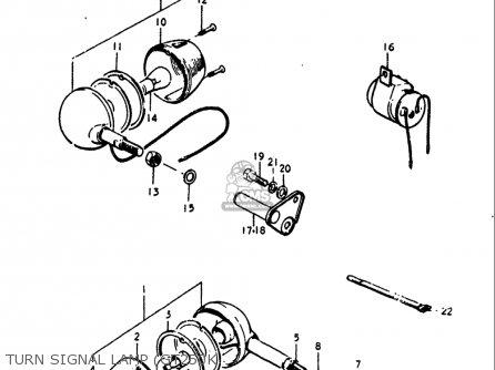 Suzuki Gt250k Gt250l Gt250m Gt250a Gt250b 1973-1977 Usa Turn Signal Lamp gt250k