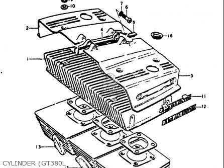 Suzuki GT380 1973 1974 1975 1976 1977 (K) (L) (M) (A) (B) USA (E03 ...