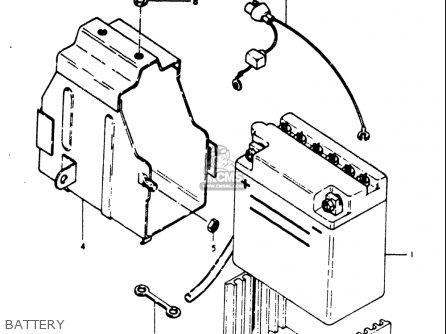 Suzuki Gt500 1976 1977 a b Usa e03 Battery