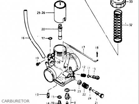 Suzuki Gt500 1976 1977 a b Usa e03 Carburetor