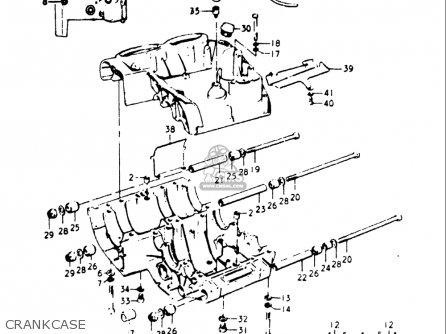 Suzuki Gt500 1976 1977 a b Usa e03 Crankcase