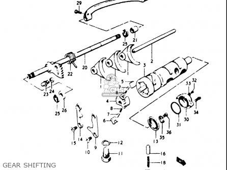 Suzuki Gt500 1976 1977 a b Usa e03 Gear Shifting