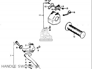 Suzuki Gt500 1976 1977 a b Usa e03 Handle Switch Lh