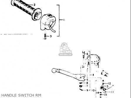 Suzuki Gt500 1976 1977 a b Usa e03 Handle Switch Rm