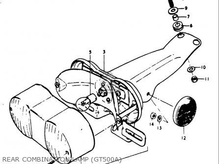 Suzuki Gt500 1976 1977 a b Usa e03 Rear Combination Lamp gt500a