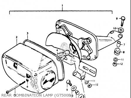Suzuki Gt500 1976 1977 a b Usa e03 Rear Combination Lamp gt500b
