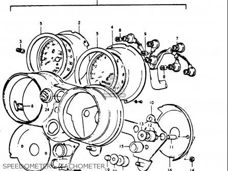 Suzuki Gt500 1976 1977 a b Usa e03 Speedometer - Tachometer