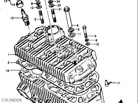 Air Filter Power Off Set Suzuki GT 750 1973-1977