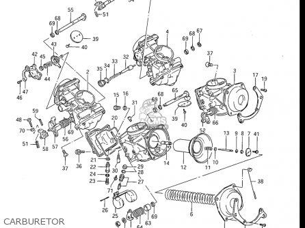 Suzuki Gv1200 Glf  Glf2  Glg 1985-1986 usa Carburetor