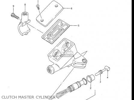 Suzuki Gv1200 Glf  Glf2  Glg 1985-1986 usa Clutch Master Cylinder
