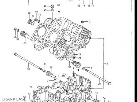 Suzuki Gv1200 Glf  Glf2  Glg 1985-1986 usa Crankcase