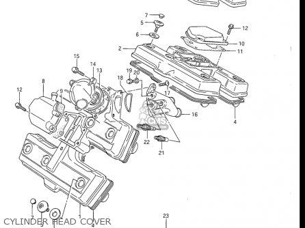 Suzuki Gv1200 Glf  Glf2  Glg 1985-1986 usa Cylinder Head Cover