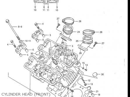 Suzuki Gv1200 Glf  Glf2  Glg 1985-1986 usa Cylinder Head front