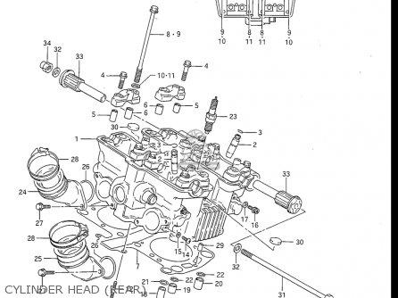 Suzuki Gv1200 Glf  Glf2  Glg 1985-1986 usa Cylinder Head rear