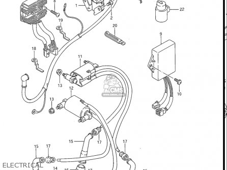 Suzuki Gv1200 Glf  Glf2  Glg 1985-1986 usa Electrical