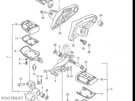 Suzuki Gv1200 Glf  Glf2  Glg 1985-1986 usa Footrest