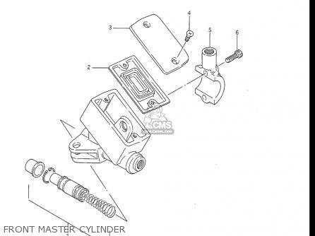 Suzuki Gv1200 Glf  Glf2  Glg 1985-1986 usa Front Master Cylinder