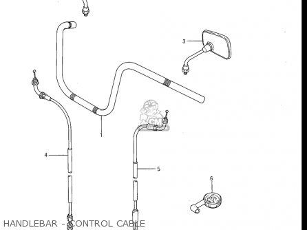 Suzuki Gv1200 Glf  Glf2  Glg 1985-1986 usa Handlebar - Control Cable