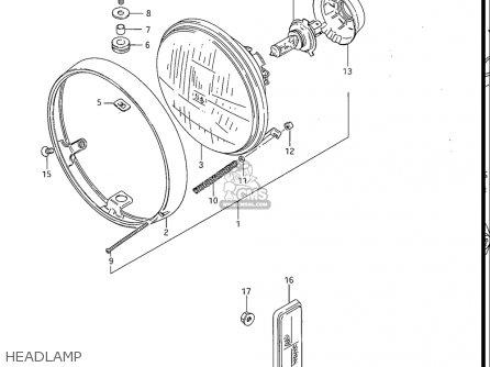 Suzuki Gv1200 Glf  Glf2  Glg 1985-1986 usa Headlamp
