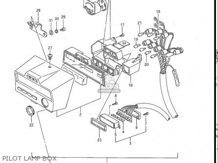Suzuki Gv1200 Glf  Glf2  Glg 1985-1986 usa Pilot Lamp Box