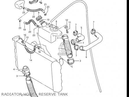 Suzuki Gv1200 Glf  Glf2  Glg 1985-1986 usa Radiator Hose - Reserve Tank
