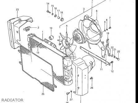 Suzuki Gv1200 Glf  Glf2  Glg 1985-1986 usa Radiator
