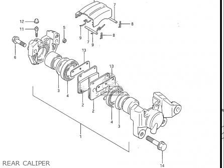 Suzuki Gv1200 Glf  Glf2  Glg 1985-1986 usa Rear Caliper