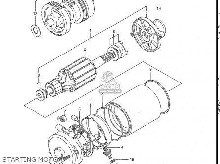 Suzuki Gv1200 Glf  Glf2  Glg 1985-1986 usa Starting Motor