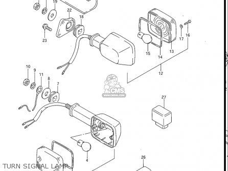 Suzuki Gv1200 Glf  Glf2  Glg 1985-1986 usa Turn Signal Lamp