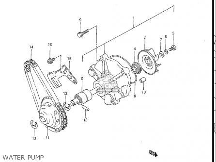 Suzuki Gv1200 Glf  Glf2  Glg 1985-1986 usa Water Pump