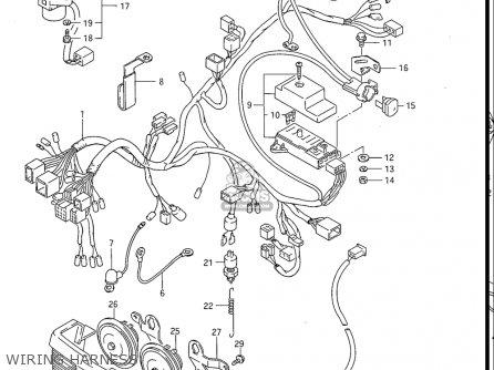 Suzuki Gv1200 Glf  Glf2  Glg 1985-1986 usa Wiring Harness