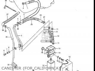Suzuki Gv1200glf Madura 1985 f Usa e03 Gv1200 Glf Gv1200-glf Canister for California