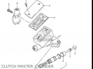 Suzuki Gv1200glf Madura 1985 f Usa e03 Gv1200 Glf Gv1200-glf Clutch Master Cylinder