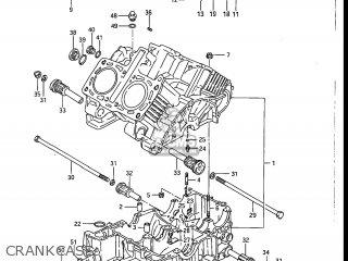 Suzuki Gv1200glf Madura 1985 f Usa e03 Gv1200 Glf Gv1200-glf Crankcase