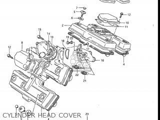 Suzuki Gv1200glf Madura 1985 f Usa e03 Gv1200 Glf Gv1200-glf Cylinder Head Cover