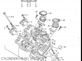 Suzuki Gv1200glf Madura 1985 f Usa e03 Gv1200 Glf Gv1200-glf Cylinder Head front