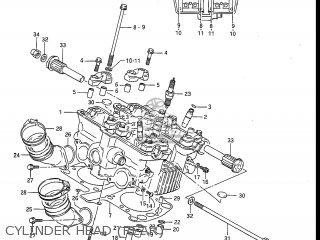 Suzuki Gv1200glf Madura 1985 f Usa e03 Gv1200 Glf Gv1200-glf Cylinder Head rear
