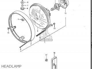 Suzuki Gv1200glf Madura 1985 f Usa e03 Gv1200 Glf Gv1200-glf Headlamp