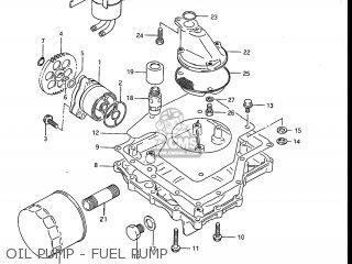 Suzuki Gv1200glf Madura 1985 f Usa e03 Gv1200 Glf Gv1200-glf Oil Pump - Fuel Pump