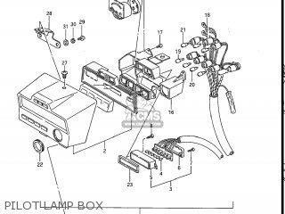 Suzuki Gv1200glf Madura 1985 f Usa e03 Gv1200 Glf Gv1200-glf Pilot Lamp Box