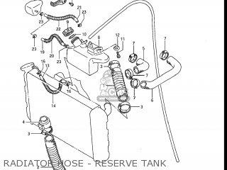 Suzuki Gv1200glf Madura 1985 f Usa e03 Gv1200 Glf Gv1200-glf Radiator Hose - Reserve Tank