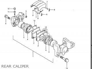Suzuki Gv1200glf Madura 1985 f Usa e03 Gv1200 Glf Gv1200-glf Rear Caliper